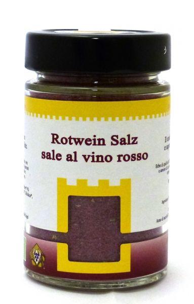 Rotweinsalz Glas