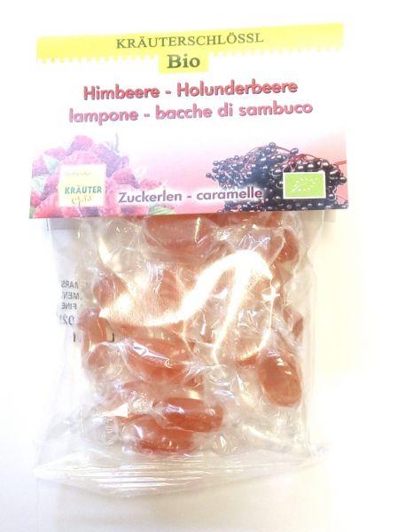 Himbeere - Holunderbeere Zuckerlen 75g IT BIO 013