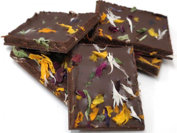 Milchschokolade mit Zitronenverbene und Blüten 50g IT BIO 013