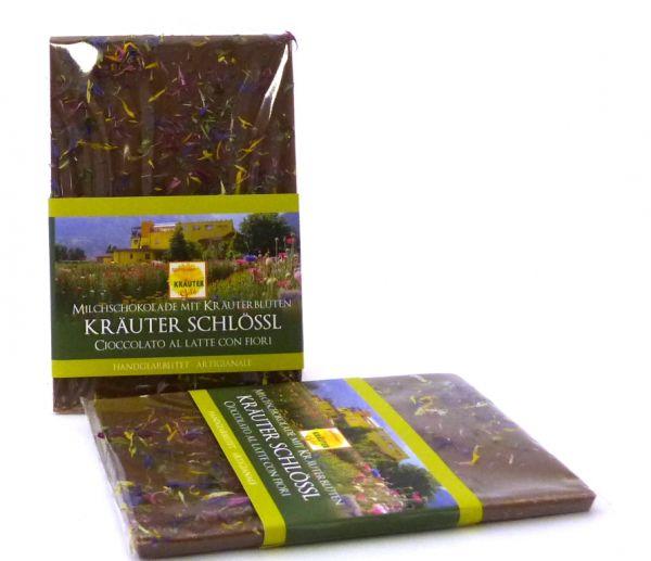 Schokolade mit Blüten